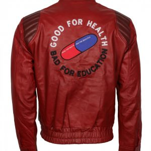 Akira Kanada Men Red Leather Jacket