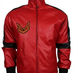 Bandit Men Red Faux Leather Jacket