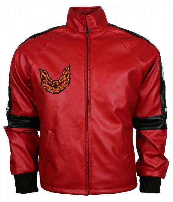 Bandit Men Red Faux Leather Jacket
