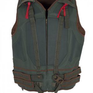 Bane Green Faux Leather Vest