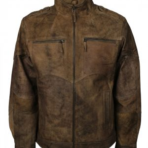 Biker Men Vintage Distressed Leather Jacket
