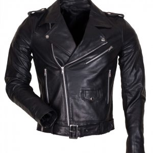 Black Brando Motorcycle Leather Jacket