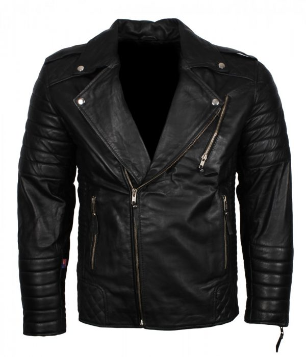 Boda Black Biker Leather Jacket