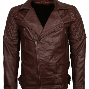 Brando Brown Leather Biker Jacket