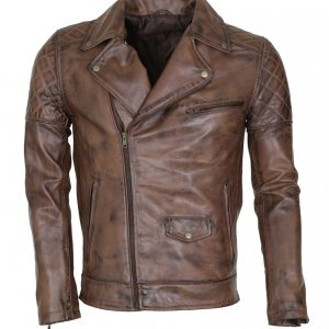 Brando Mens Vintage Dark Brown Real Leather Jacket
