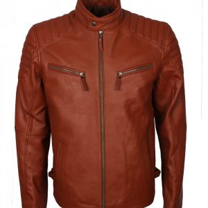 Brown Quilted Fashion Leather Jacket