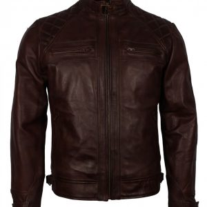 Dark-BROWN-Vintage-Leather-Jacket