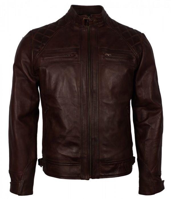 Dark-BROWN-Vintage-Leather-Jacket