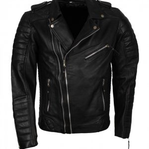 Double Zipper Biker Leather Jacket