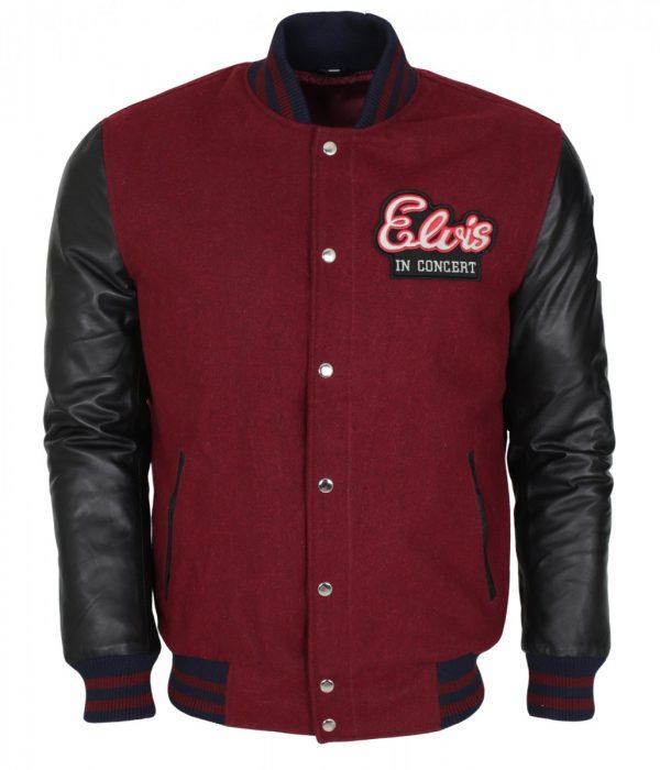 Elvis Presley In Concert Wool Leather Jacket