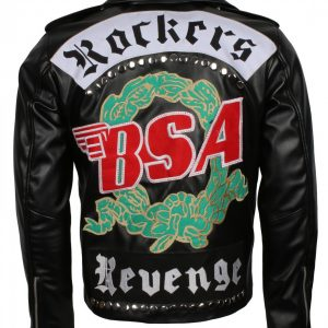 George Michael BSA Black Genuine Leather Jacket