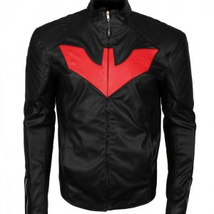 Man Bat Black Faux Leather Jacket