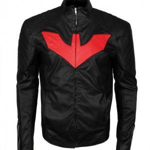 Man Bat Black Faux Leather Jacket