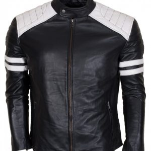 Mayhem Man Black Motorcycle Leather Jacket