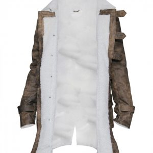 Men's Distressed Fur Brown Bane Leather Coat
