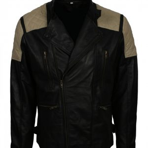 Mens Fashion Black Quilted Leather Jacket