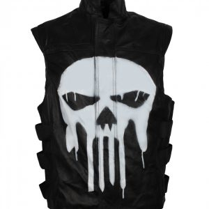 Punisher-Black-Leather-Jacket
