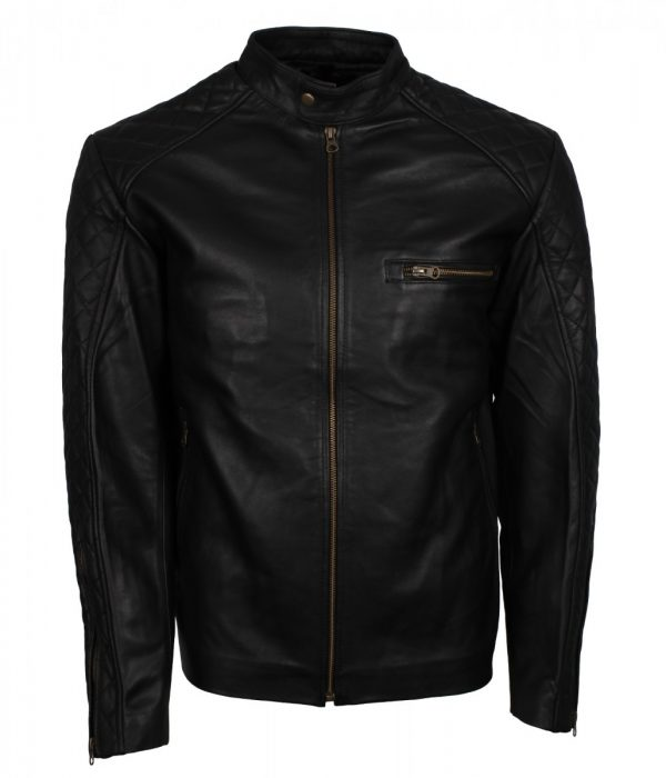 Quilted Black Fashion Leather Jacket