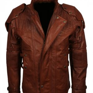 Star Lord Brown Snake Skin Leather Jacket