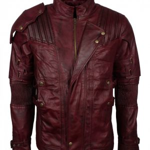 Star Lord Maroon Genuine Leather Jacket