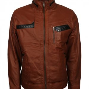 Sven Brown Real Leather Jacket
