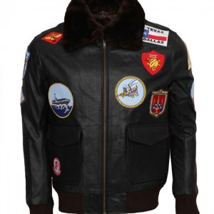 Top Gun Black Leather Jacket