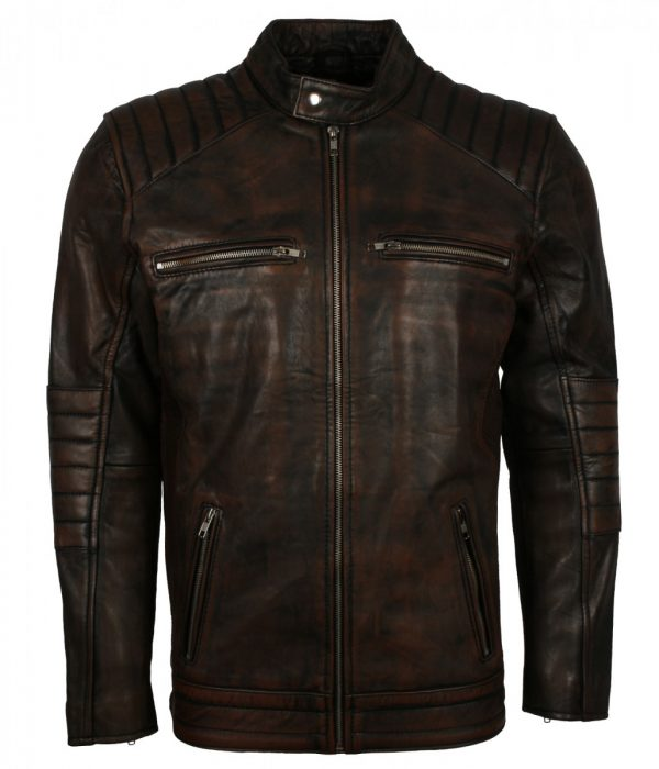Waxed Brown Vintage Leather Jacket